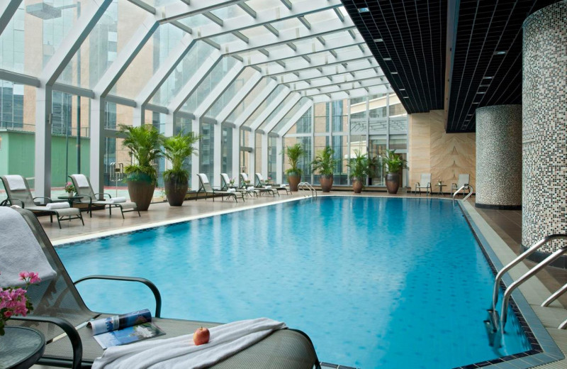 Indoor pool at Swisshotel Beijing Hong Kong Macau Center.
