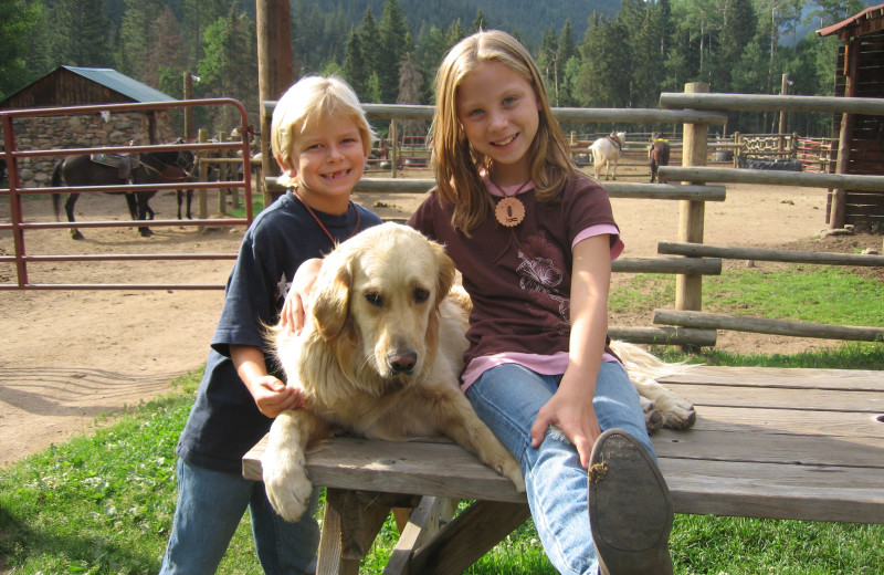 Pets welcome at Tumbling River Ranch.