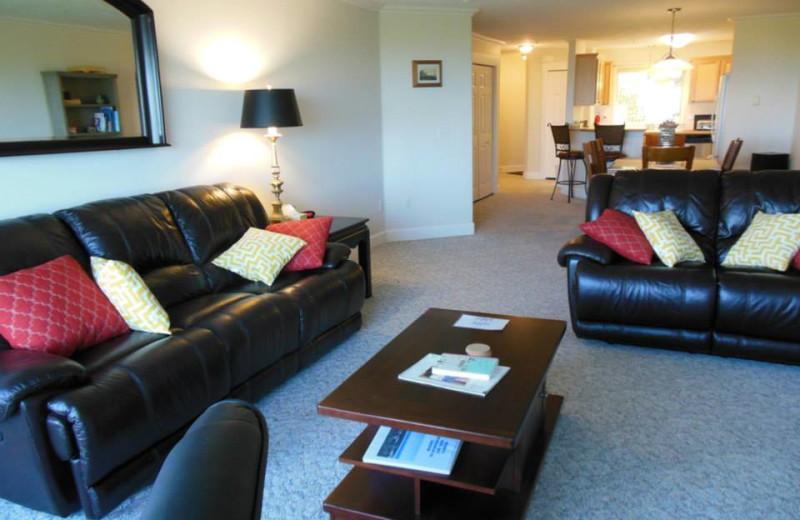 Rental interior at Oceanfront Getaways.