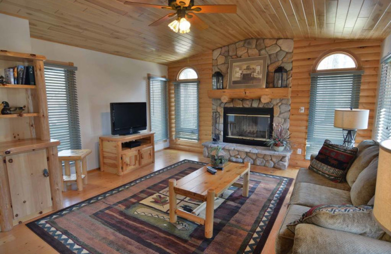 Rental living room at Recreational Rental Properties, Inc.