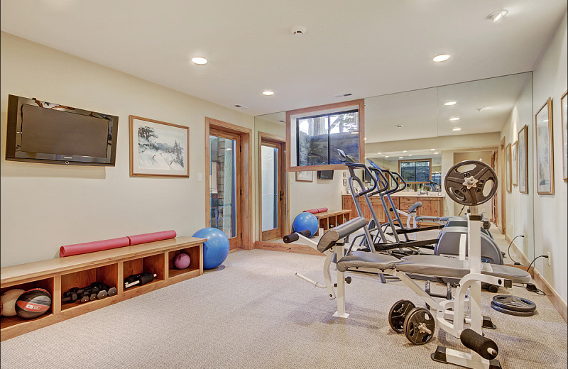 Rental fitness room at Vail Rentals by Owner.