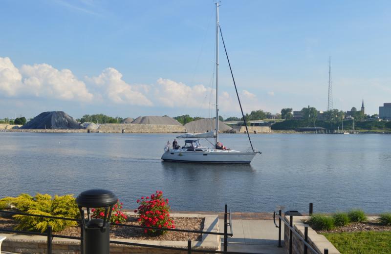 Lake view at The Inn at Harbor Shores.