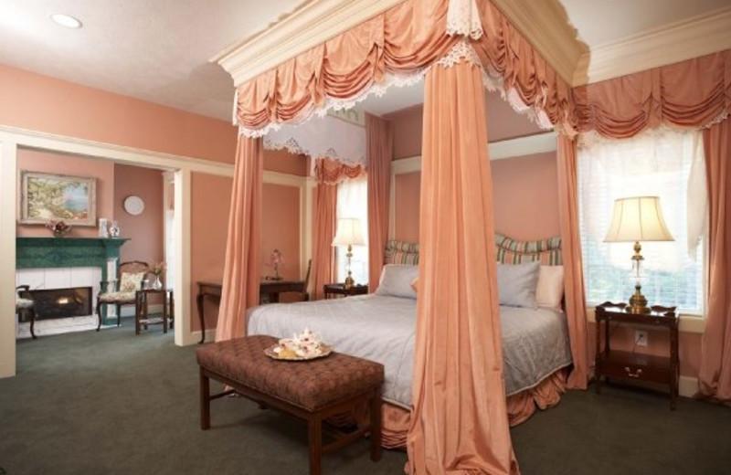 Guest room at The Fairview Inn & Restaurant.