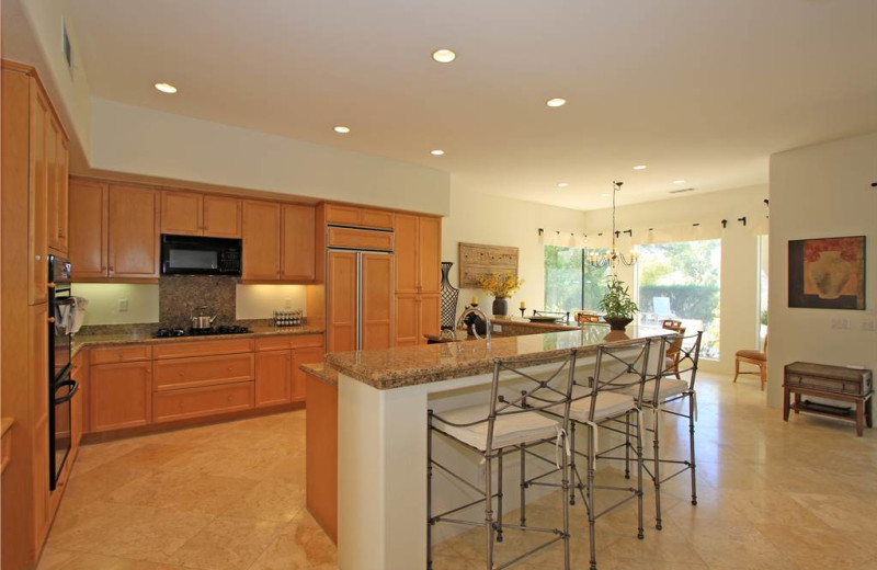 Rental kitchen at Luxury Leasing.