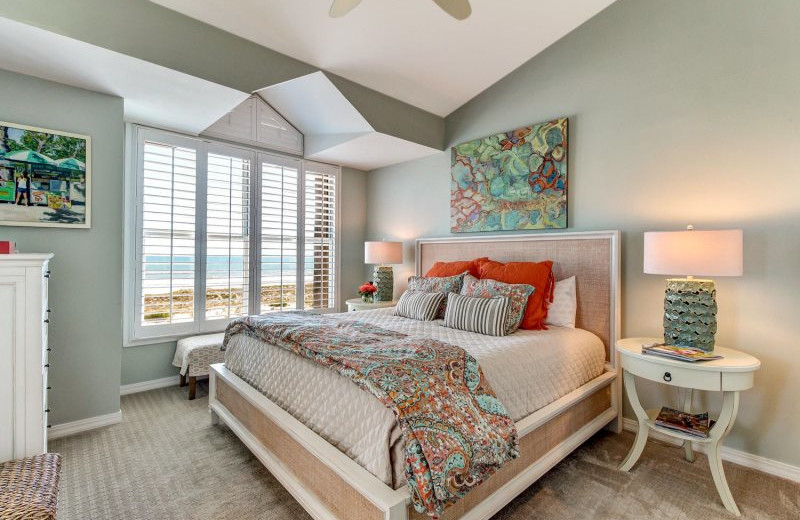 Rental bedroom at Beach Vacation Rentals.