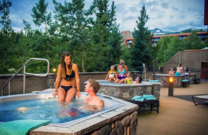 Hot tubs at Beaver Run Resort & Conference Center.