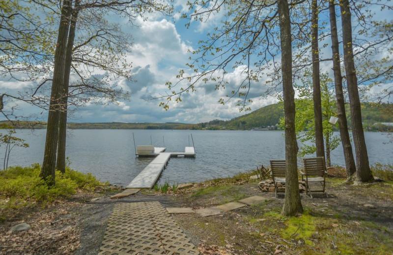 Rental lake view at Taylor-Made Deep Creek Vacations.