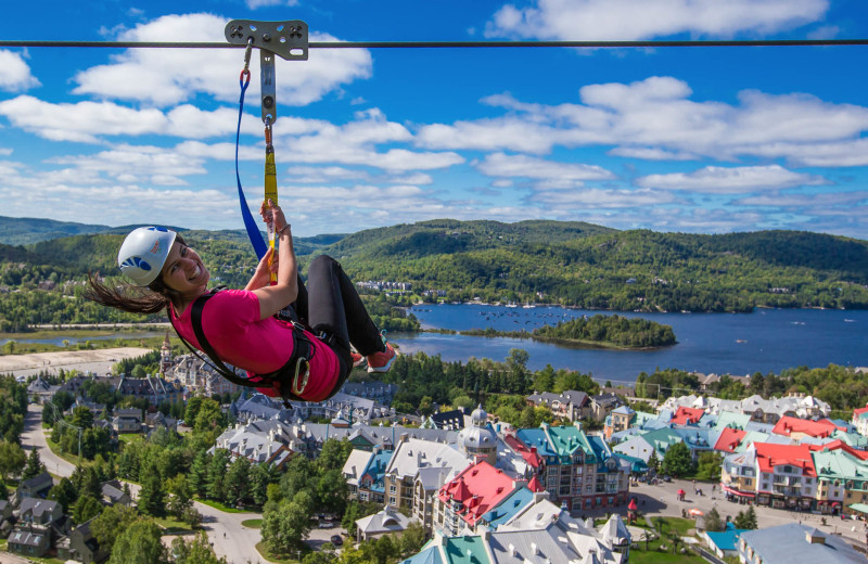 Zip line at Fairmont Tremblant Resort.