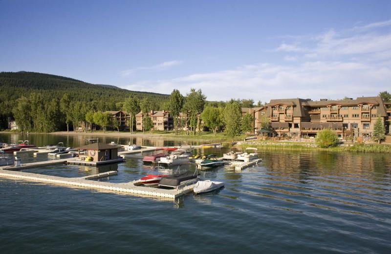 Marina at The Lodge at Whitefish Lake.