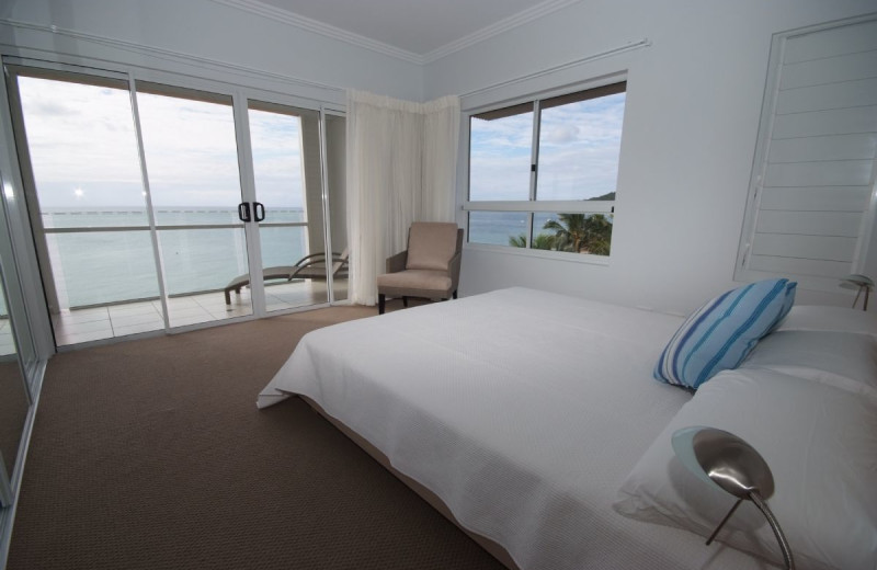 Guest room at Tangalooma Wild Dolphin Resort.
