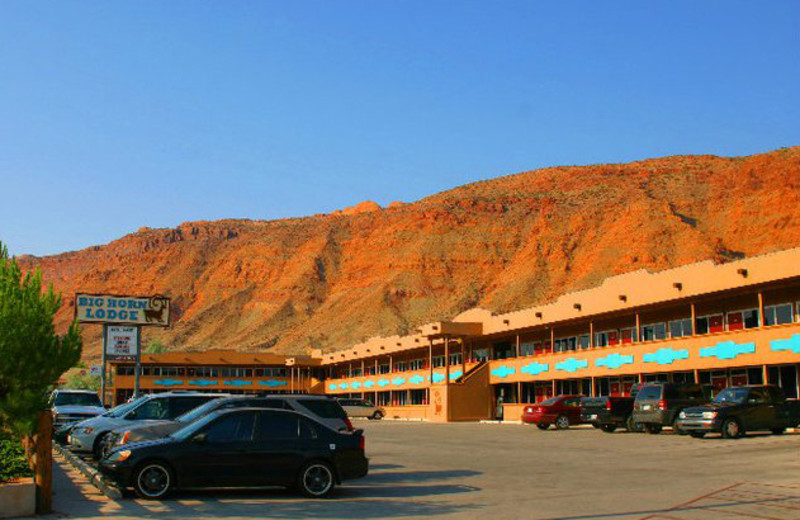 Exterior view of Big Horn Lodge.