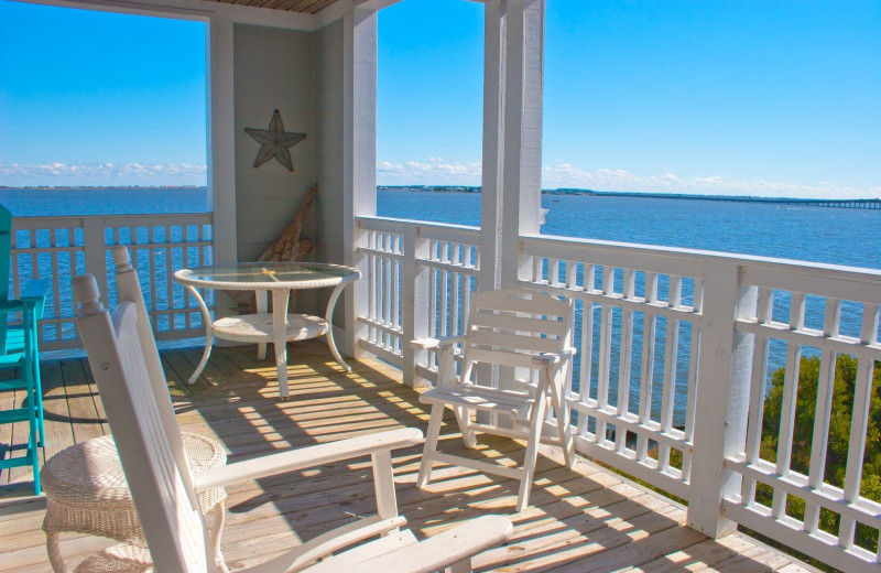 Rental balcony at Pirate's Cove Realty.
