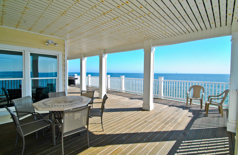 Rental deck at Dauphin Island Beach Rentals, LLC.