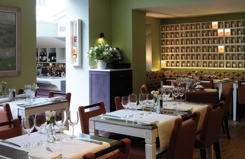 Dining at Dorset Square Hotel.