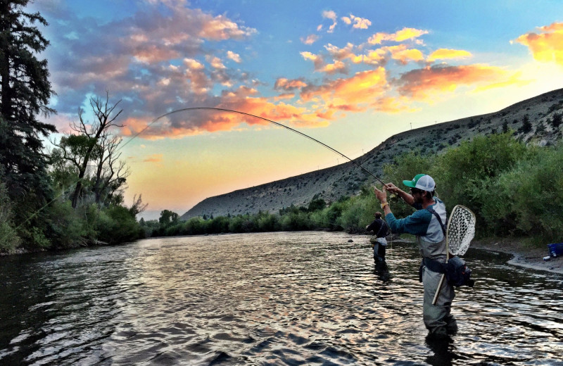 Fishing at Three Rivers Resort & Outfitting.