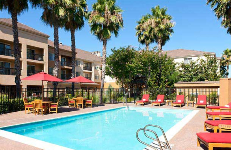 Outdoor pool at Courtyard by Marriott Milpitas.