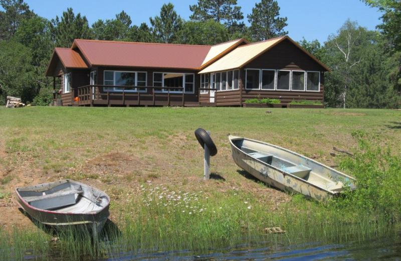 Cabin exterior at Safari Whitetail Resort.