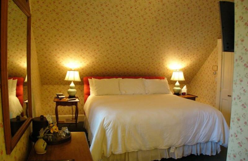 Guest room at Three Stallion Inn.