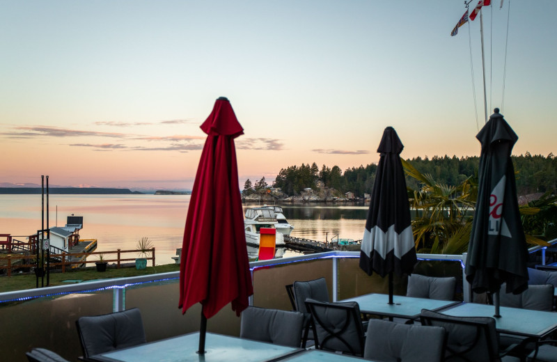 Patio at Lund Resort at Klah ah men.