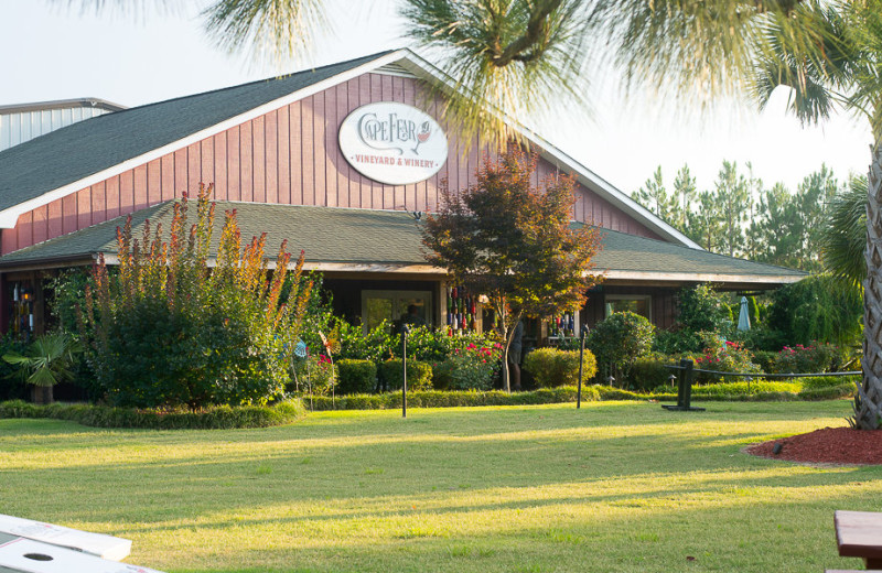 Exterior view of Cape Fear Vineyard and Winery.