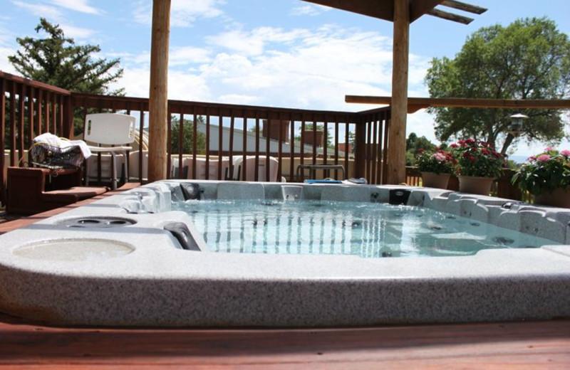Outdoor hot tub at Inn at Paradise.