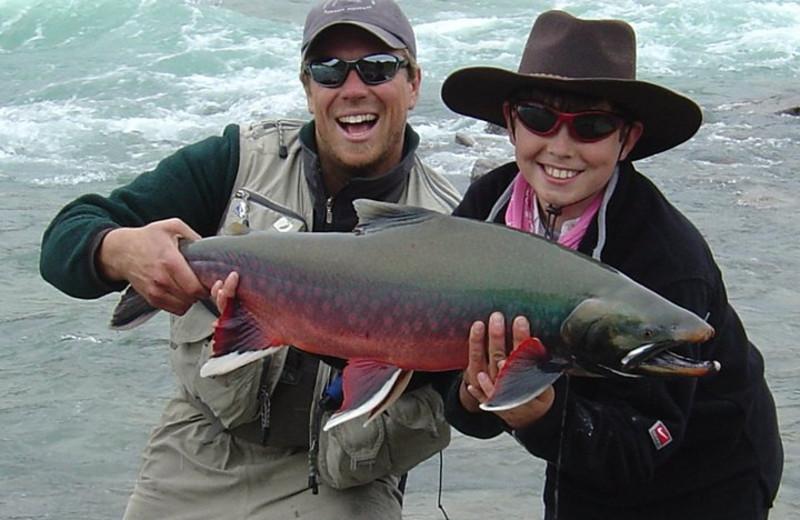 Fishing at Plummer's Arctic Fishing Lodges.
