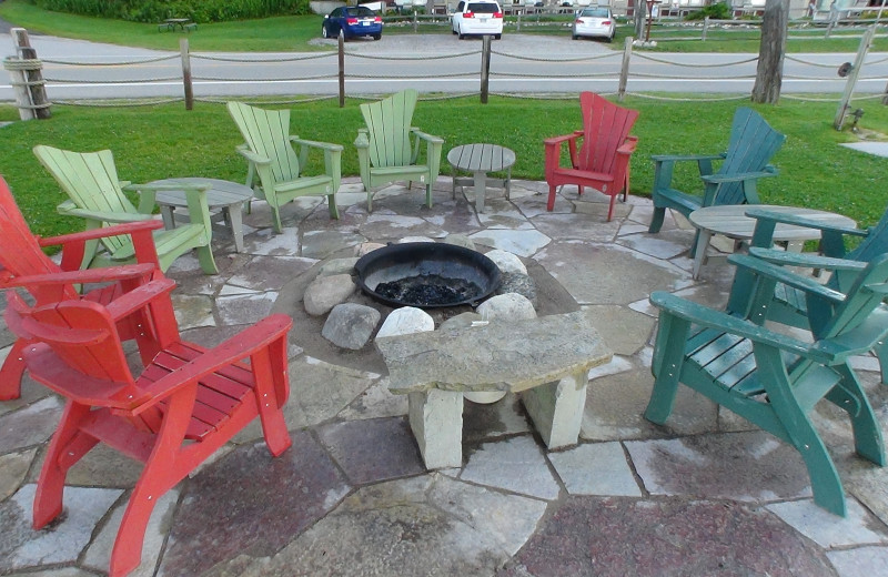Fire pit Chimney Corners Resort.