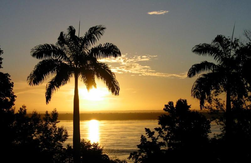 Sunset at Shanklands Rainforest Resort.