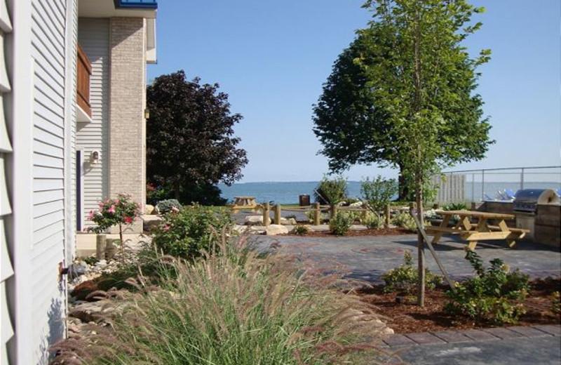 Condo exterior at Island Club Rentals.
