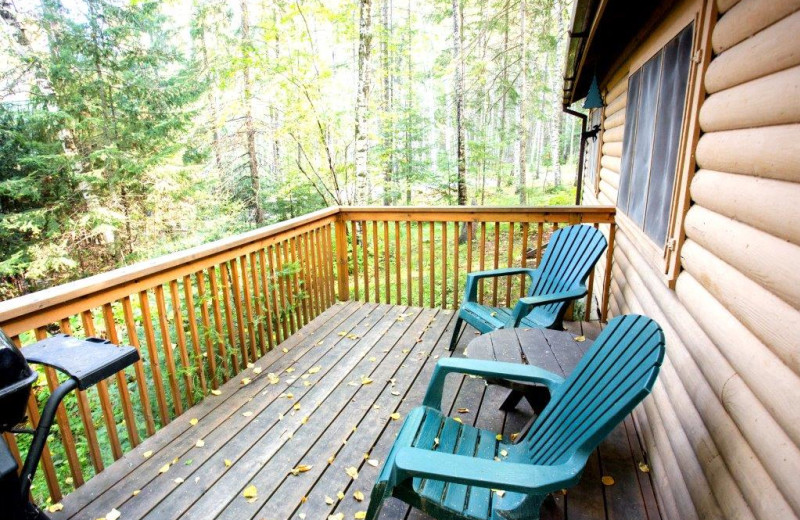 Cabin deck at Timber Bay Lodge & Houseboats.