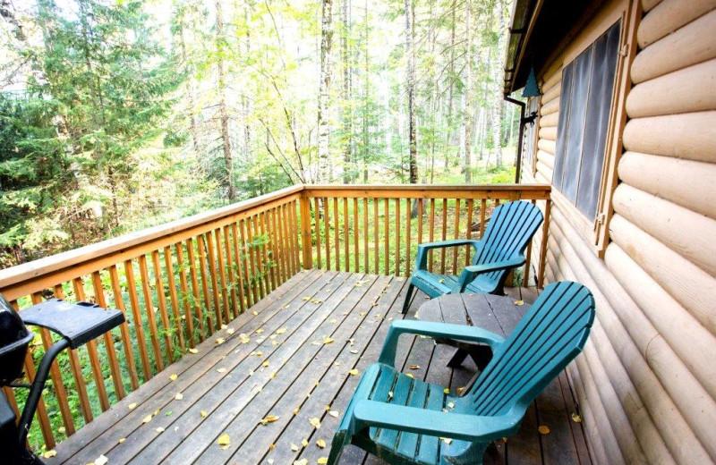 Cabin deck at Timber Bay Lodge & Houseboats.