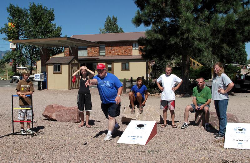 Family games at Colorado Springs KOA.