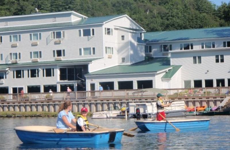 Boating at Lake Morey Resort.