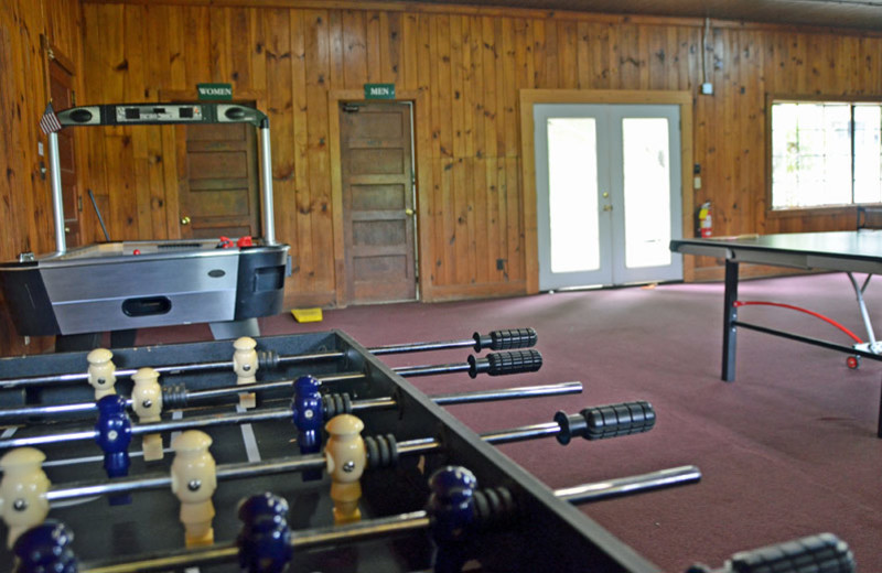 Game room at Nantahala Village.