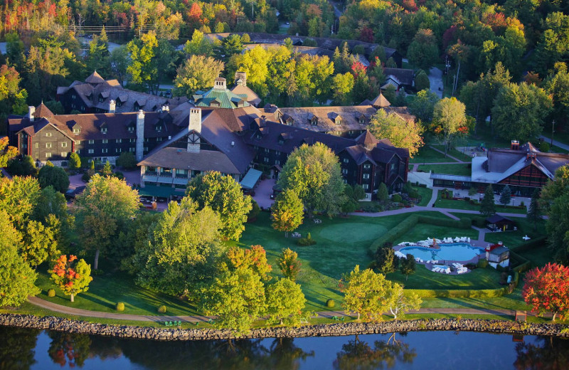 Aerial view of Fairmont Le Chateau Montebello.