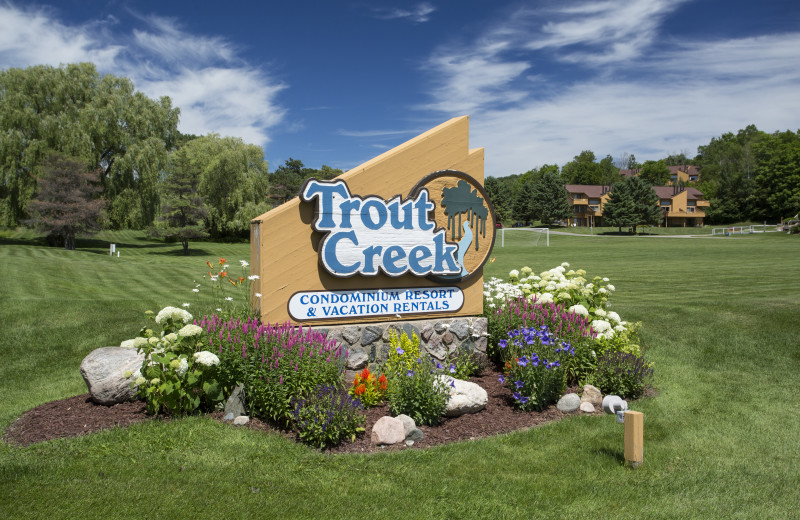 Exterior view of Trout Creek Condominiums.