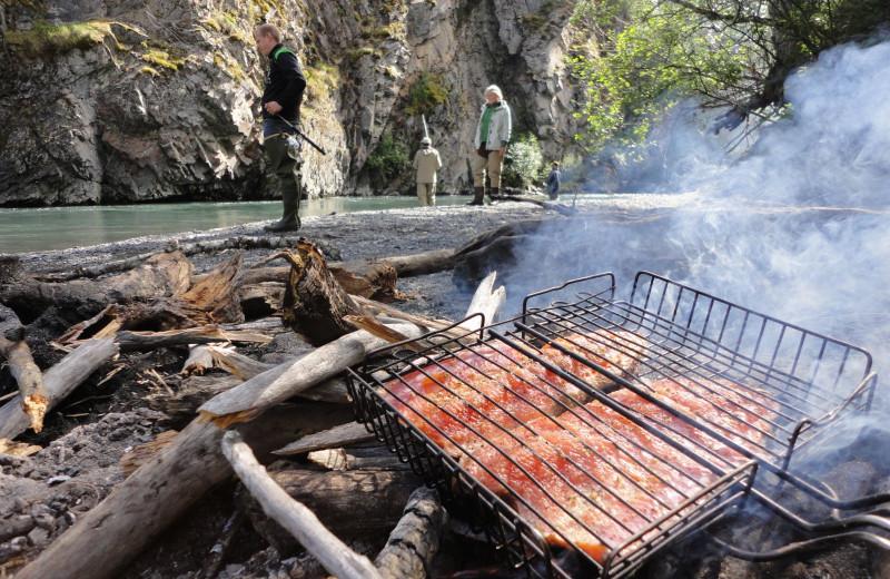 Fish fry at Zachar Bay Lodge.