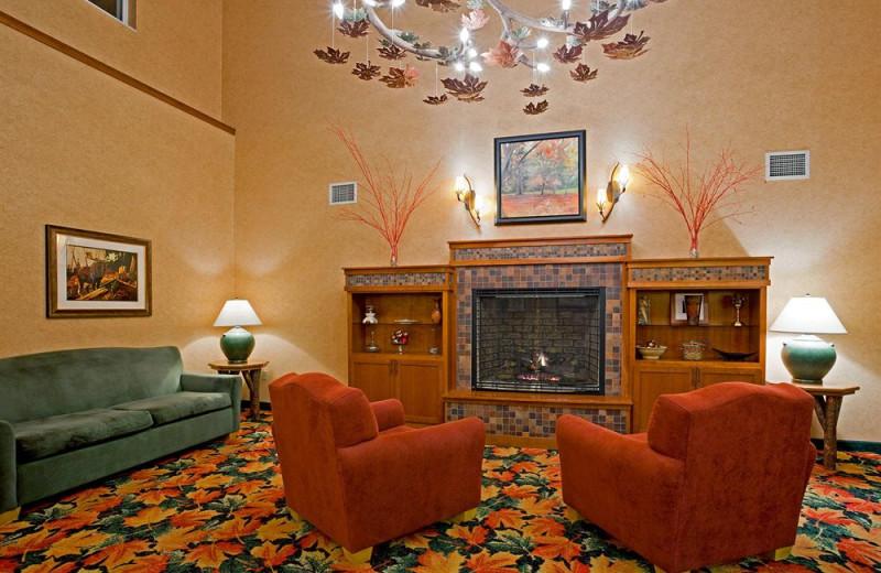 Lobby at Holiday Inn Minneapolis.