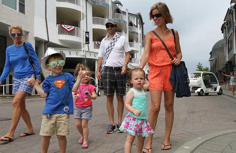 Family at Bay Harbor Resort and Marina.