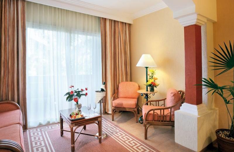 Junior Suite Living Room at Barcelo Maya Beach Resort