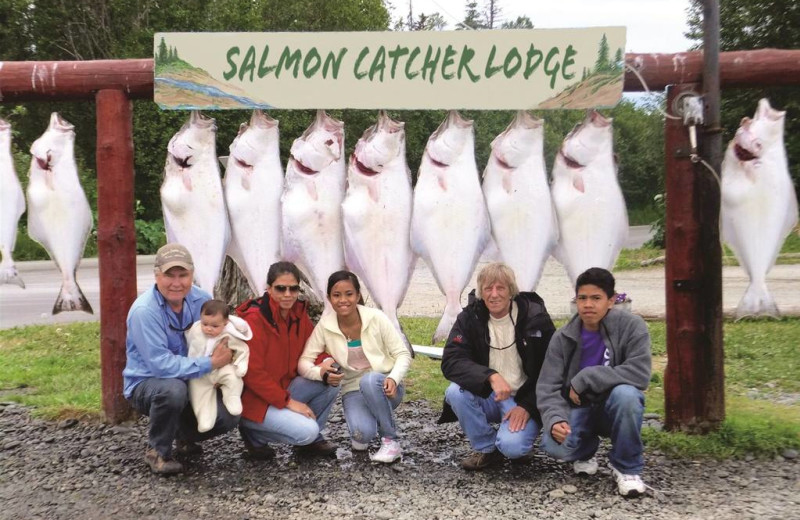 Fishing at Salmon Catcher Lodge.