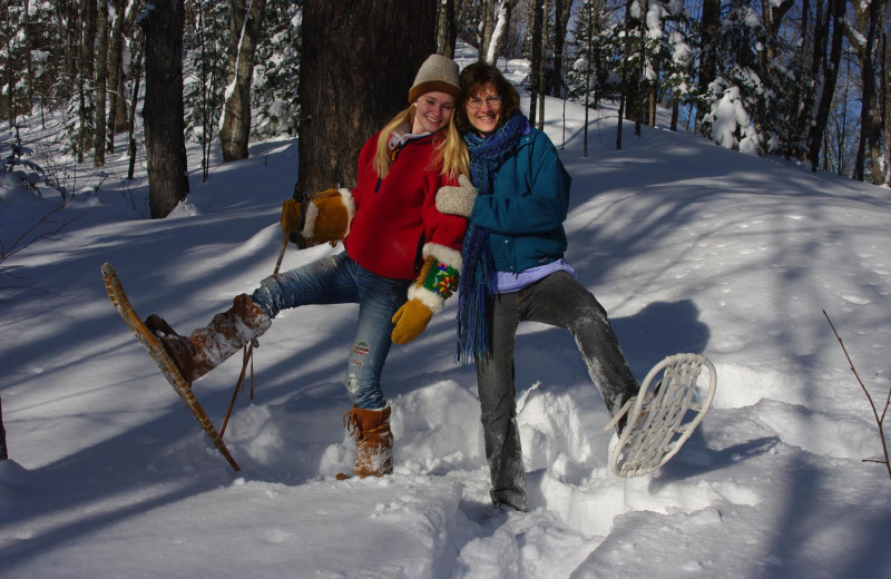 Snowshoeing at Solbakken Resort.