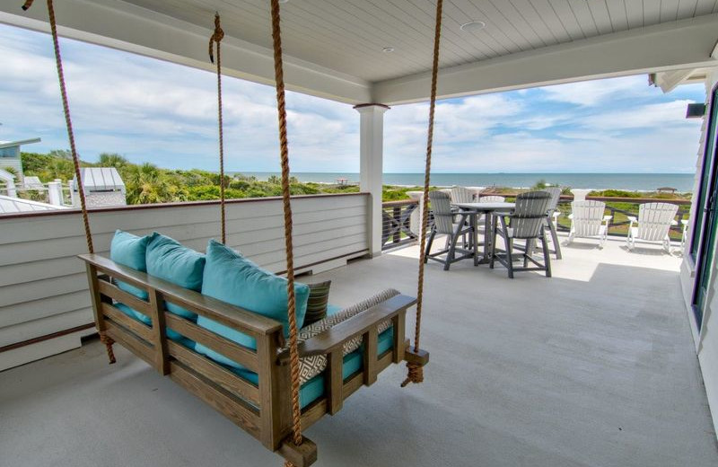 Rental porch at Exclusive Properties - Isle of Palms