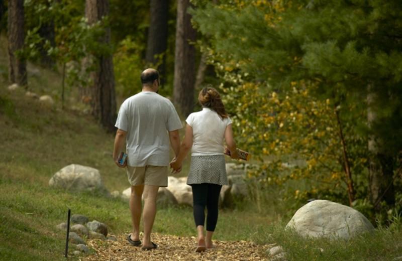 Hiking at Giants Ridge Golf and Ski Resort.