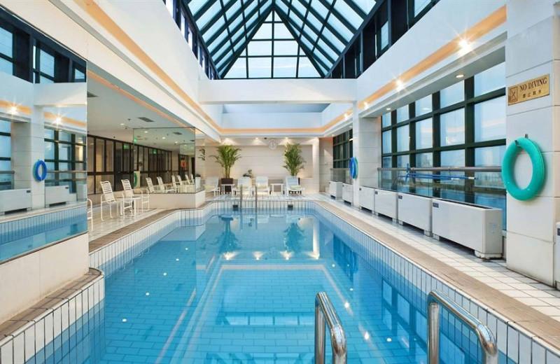 Indoor pool at Crowne Plaza Beijing.
