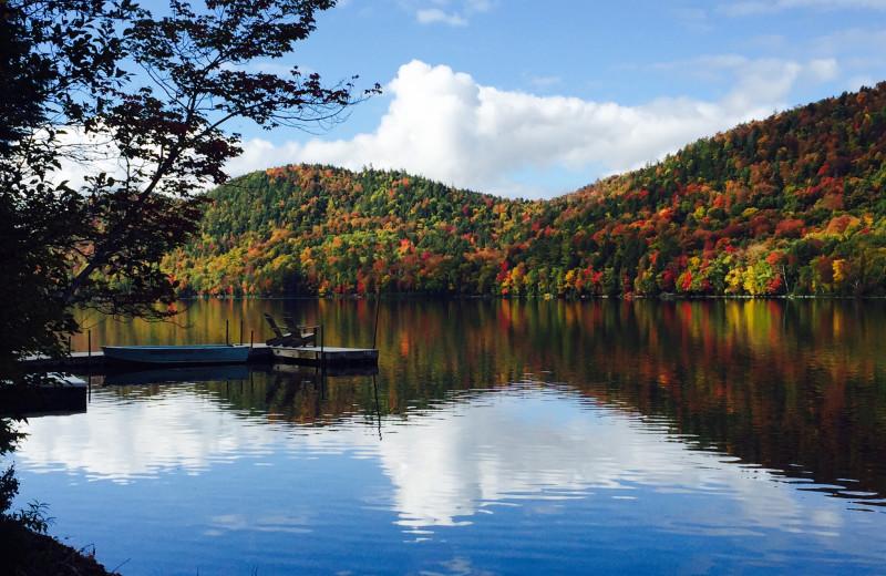 Lake view at Garnet Hill Lodge.