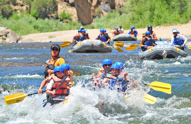 River rafting at Mt. Princeton Hot Springs Resort.