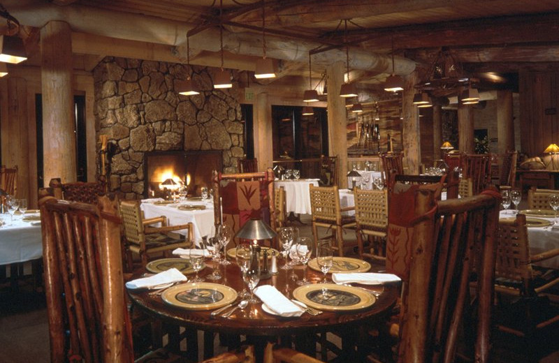 Dining at Sun Mountain Lodge.