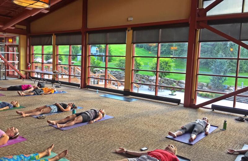 Yoga at Bear Creek Mountain Resort.