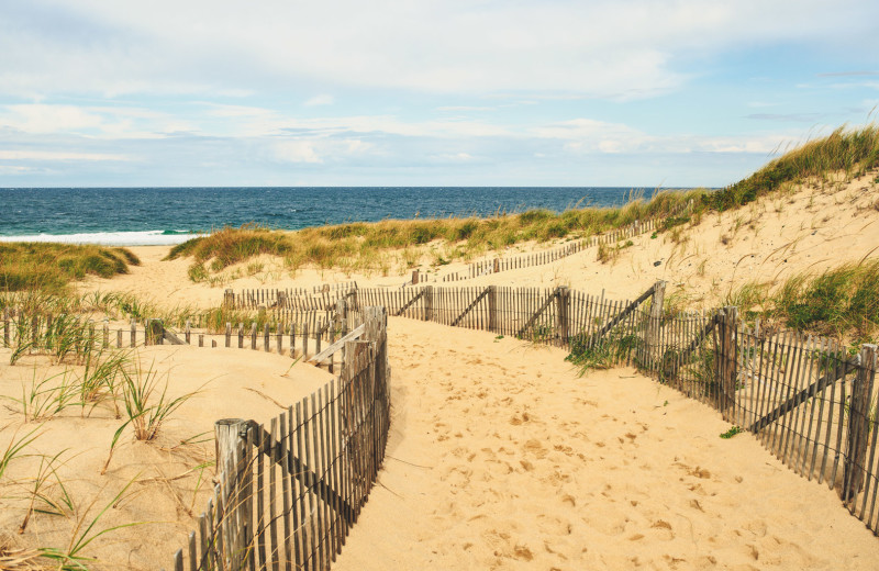 Beach at Harbor Hotel Provincetown.